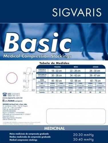 cfe3ef3f4 Meia Basic (972) 20-30 mmHg Meia Coxa 7 8 – Sigvaris - Ágape Compressiva